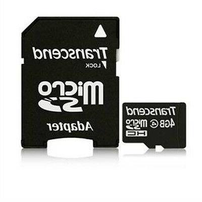 Transcend 4GB MicroSDHC Memory Card with Adapter for Samsung