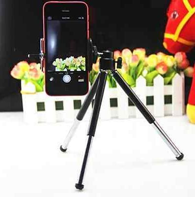 Universal Mini Tripod Stand +Cell phone Mount For iPhone 6 P