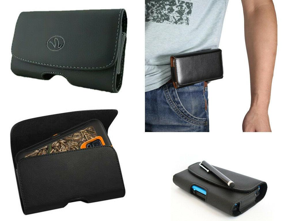 Universal Samsung Galaxy Leather Pouch Side Horizontal Case