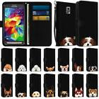 Wallet Pouch Case Cover with Dog Design for Samsung Galaxy S