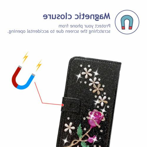 Bling Leather Cover Case Galaxy Note 20 Ultra/S20/S10/S9/S8