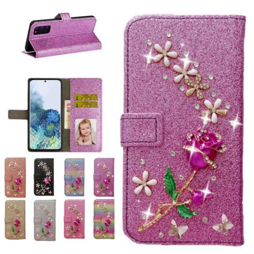 bling wallet leather magnetic cover case