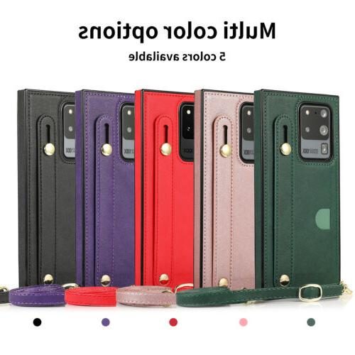 Crossbody Case Cover Wallet For Note 20