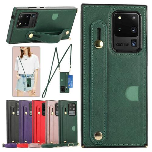 crossbody leather case cover wallet for samsung