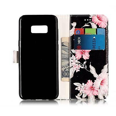 Flip Leather Case Galaxy S5 S8 S9 Note