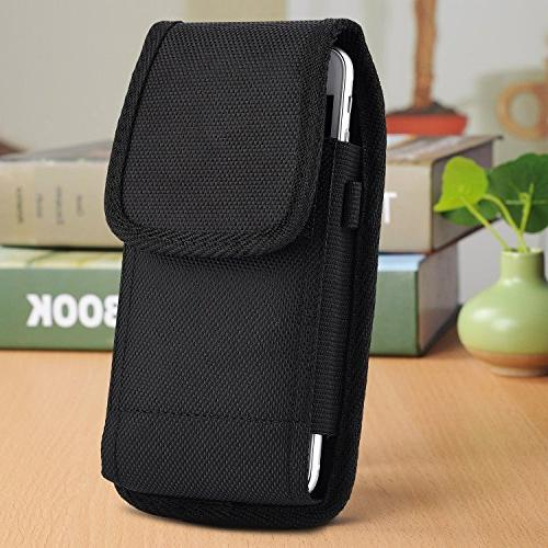 GALAXY S6 , S7 , Holster Rugged vertical nylon belt loop Fits SAMSUNG S5 / S6 / S6 EDGE / S7 / S8 Lifeproof Waterproof