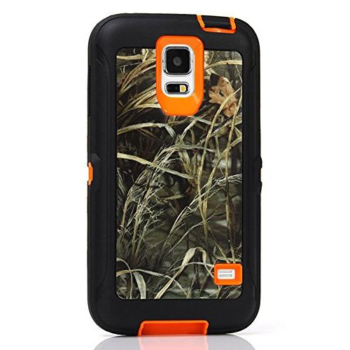 Galaxy Harsel Duty Camo Impact Hybrid Rubber Protective Clip Built-in Case Cover S5