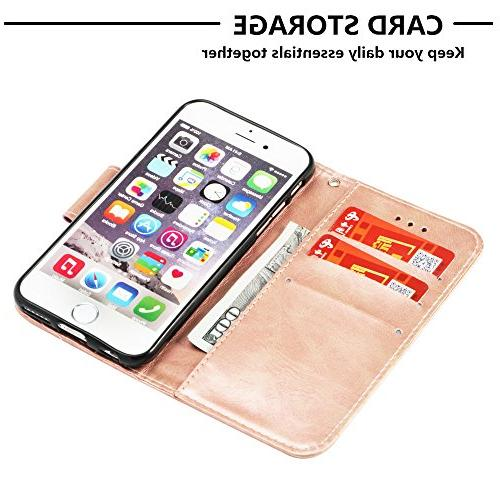 Abtory Galaxy Wallet Case,3D Book Full Body Shock Protective Phone Samsung Galaxy S5 Rose Gold