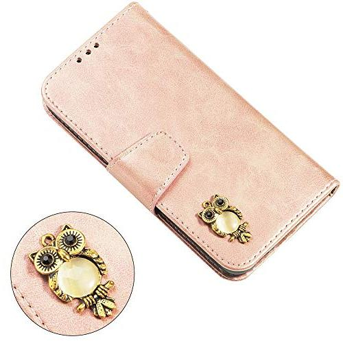 Abtory S5 Case,3D Bling Book Full Shock Absorption Protective Phone Case for Samsung Galaxy Rose Gold