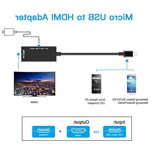 Micro Cable Adapter, 1080P and Tablets MHL Function, Note 4/3/2