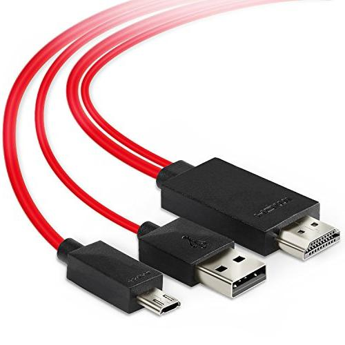 Jmday Micro USB HDMI with Video Audio Output for Android Samsung S3/S4/S5 2/3/4, Tab 3 Tab 10.1, 8 Note Pro