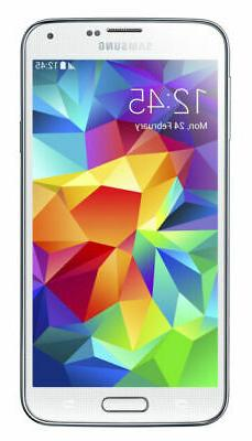 New Samsung Galaxy S5 SM-G900T - 16GB - White  Unlocked Smar
