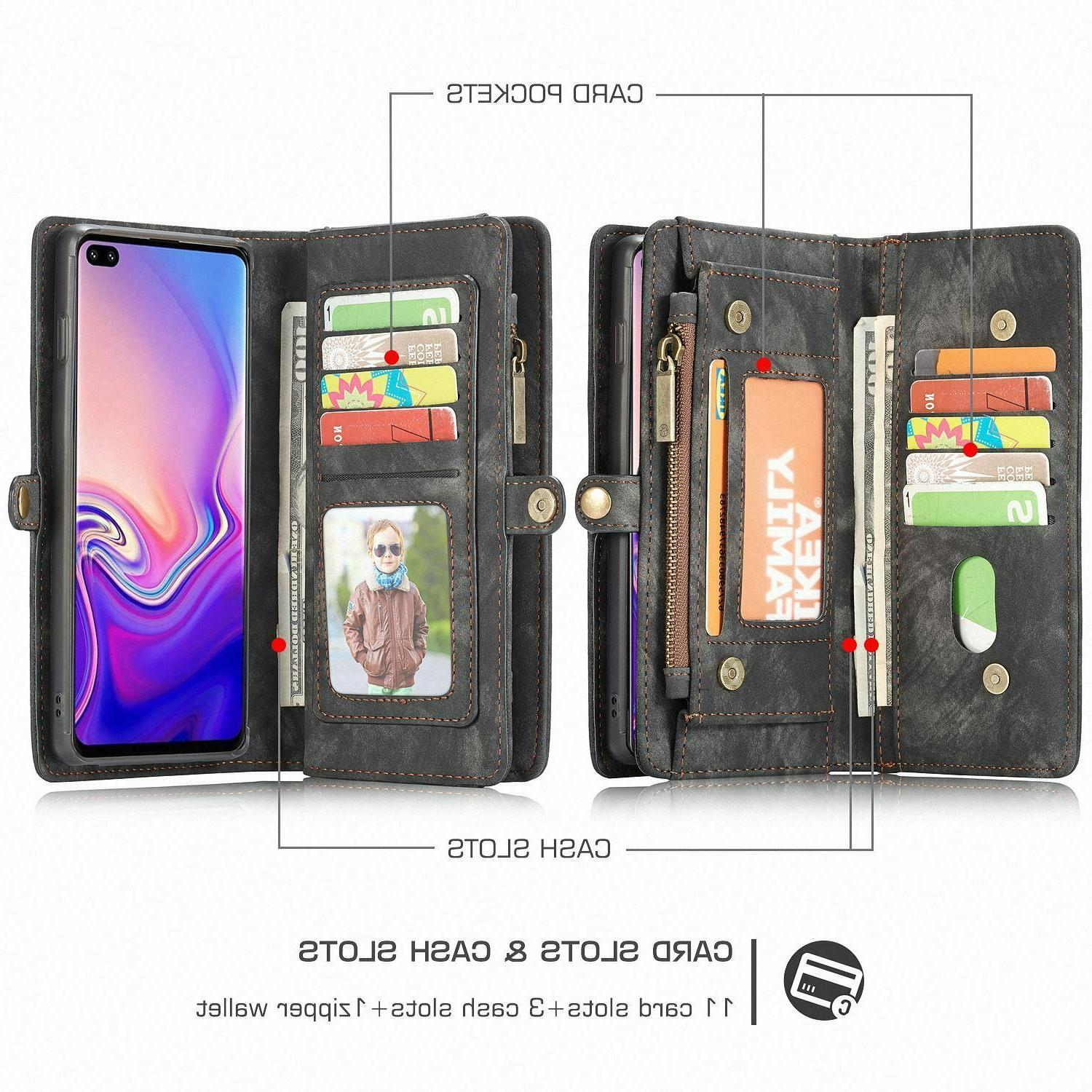 For 5G Plus S10e Leather Removable Wallet Cover