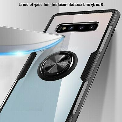 For Samsung Plus S10e Case Clear Ring Holder Stand Cover