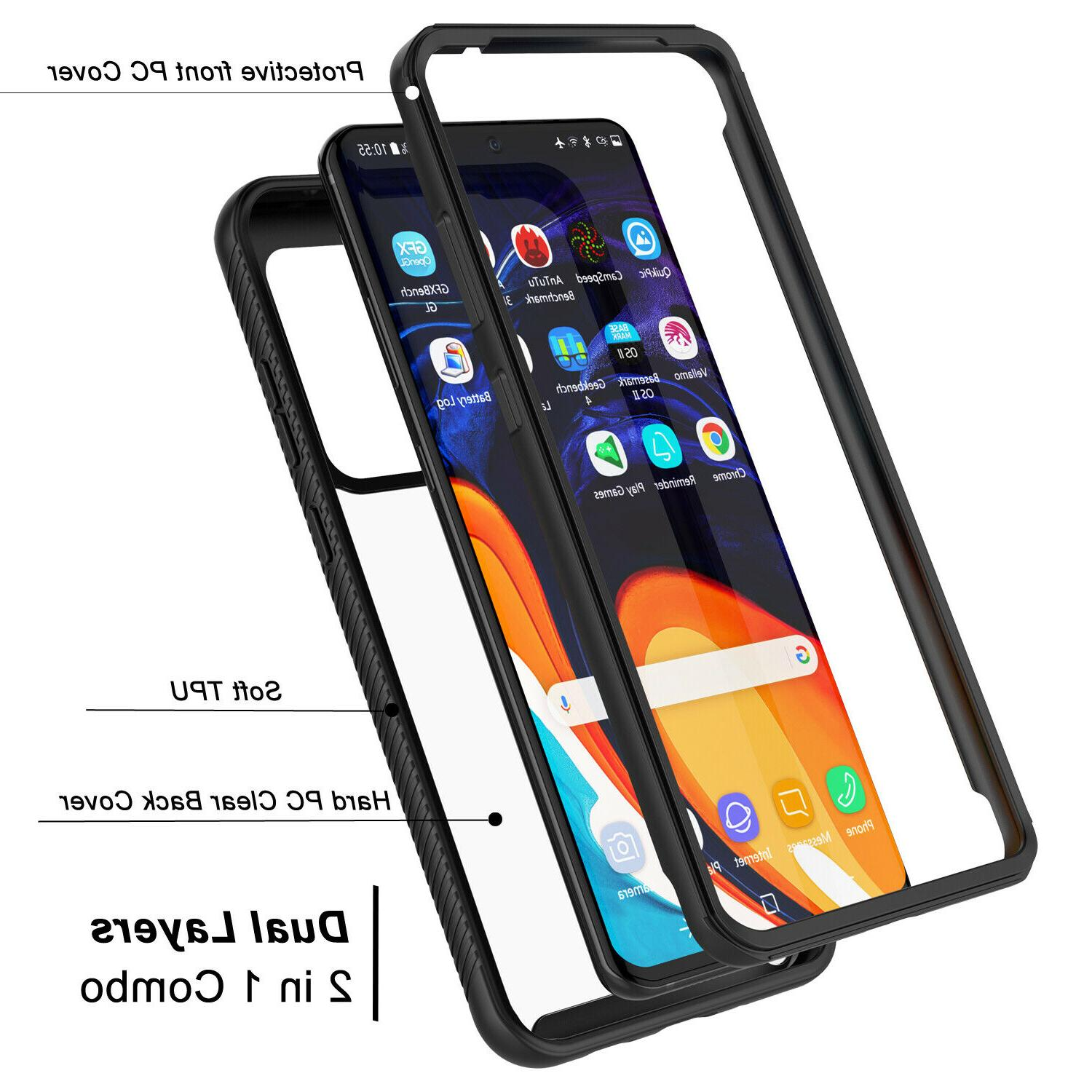 For Ultra Plus 5G Clear Case Full Screen Protector