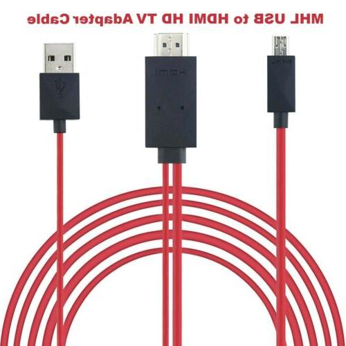 For Galaxy 4 5 MHL to HDMI Cable Cord