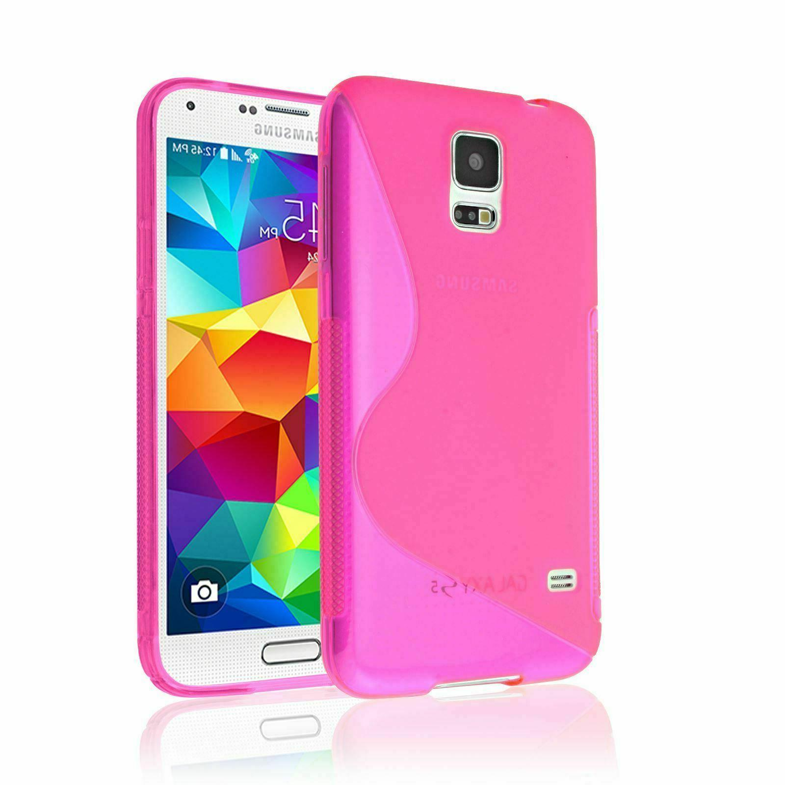 SAMSUNG GALAXY S5 FLEXIBLE S-LINE TPU RUBBER BACK PROTECTOR