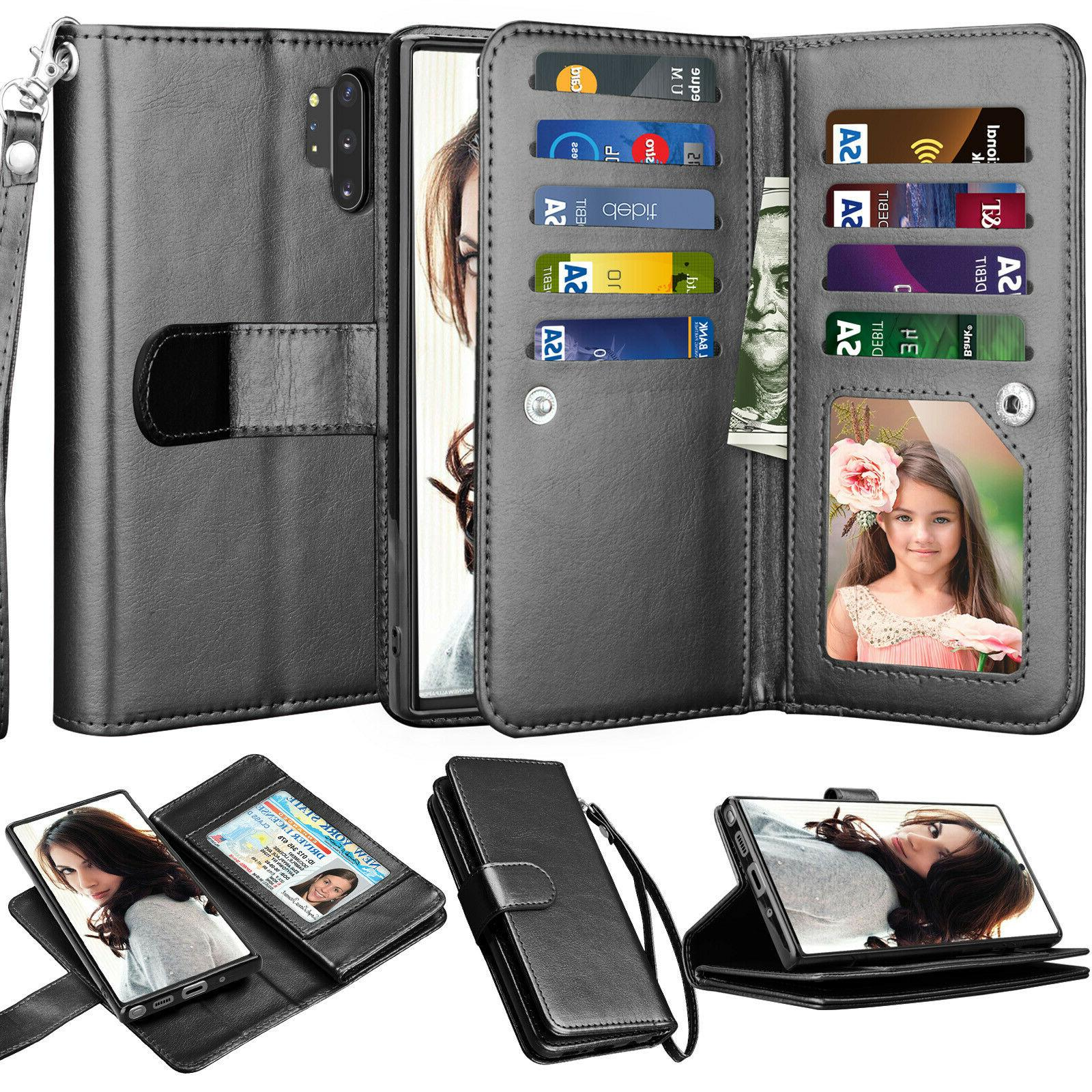 For Samsung Galaxy S7/S8/S9/S10 20 Plus Note 9/10 Plus Leather Cover