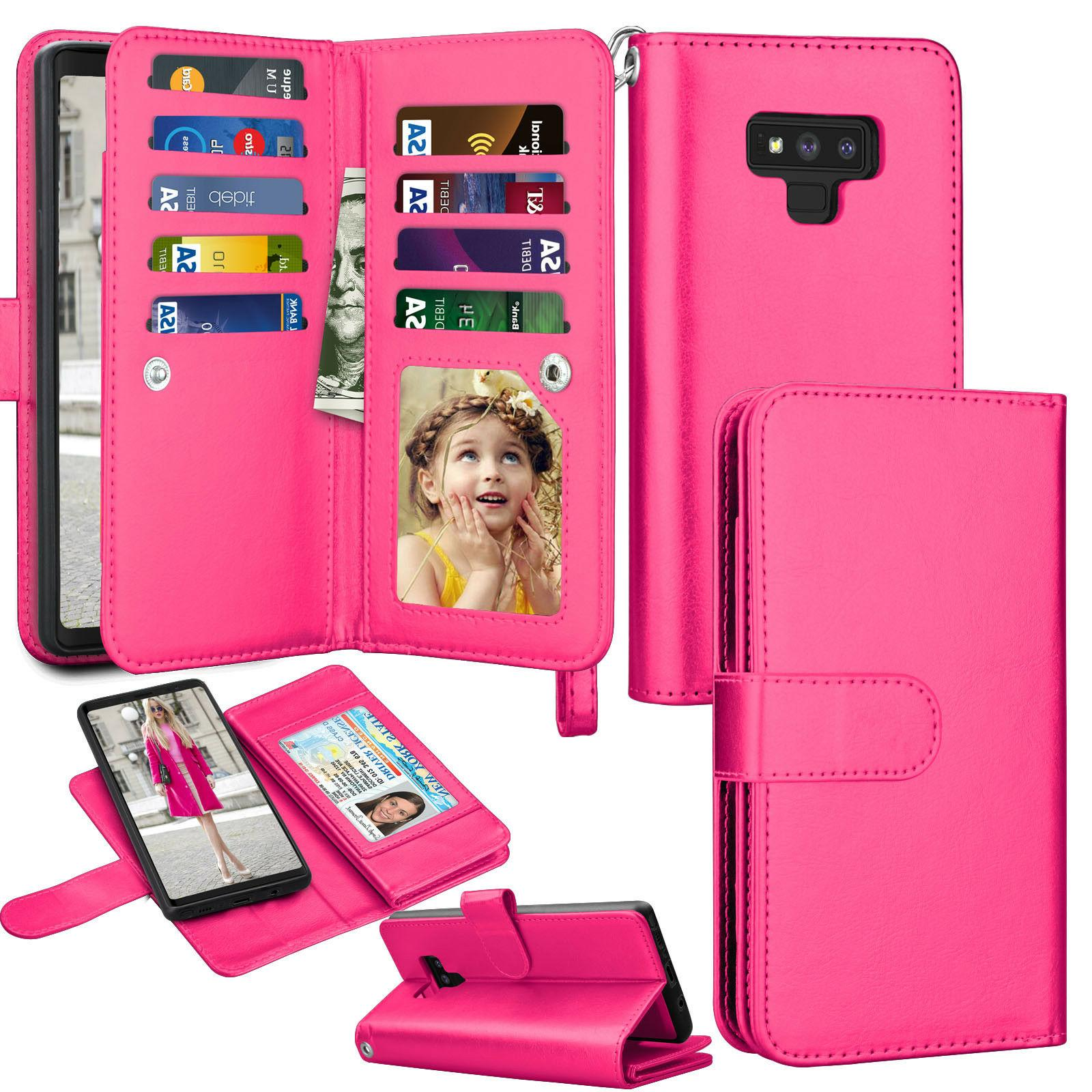 For Samsung 20 Note 9/10 Plus Leather Wallet Cover