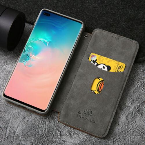 S10 Case Leather Stand Flip Card Protective