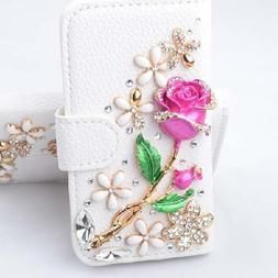 Berry Accessory Luxury 3D Bling Crystal Rhinestone Wallet Le