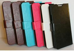 Luxury Leather Wallet Flip Cover Stand Case Samsung Galaxy S