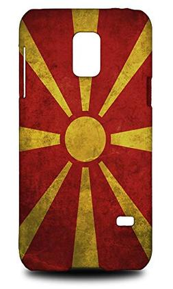 Macedonia Country Flag Hard Phone Case Cover for Samsung Gal