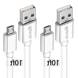 Android Charger Cable for Samsung Galaxy S7,  Micro USB Cord