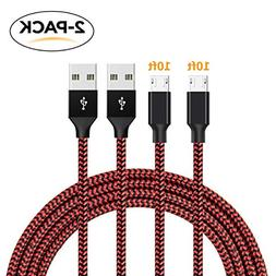 Olesit Micro USB Cables,  Extra Long Durable Nylon Braided