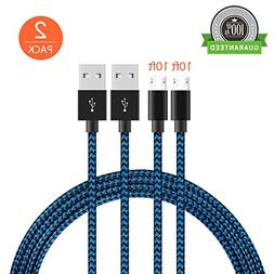 KMISS Micro USB Cables,  Extra Long Nylon Braided  Sync and