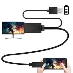 KMISS Micro USB to HDMI Media HDTV Adapter 6.5ft Cable 11 Pi