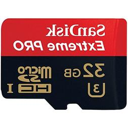 SanDisk Extreme PRO microSDHC Memory Card Plus SD Adapter up