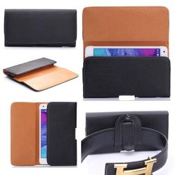 PU Leather Magnet Flip Belt Clip Holster Case Pouch Sleeve C