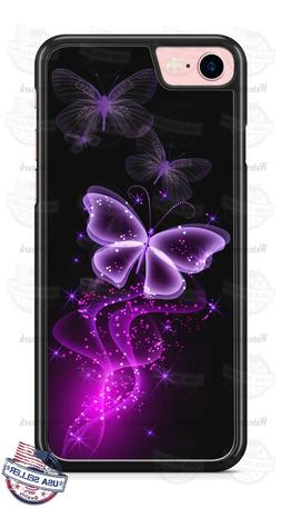 Purple Butterfly Pink Pixie Dust Phone Case Cover for iPhone