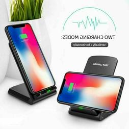 Qi Wireless Fast Charger Stand Dock Charging Pad Samsung Gal