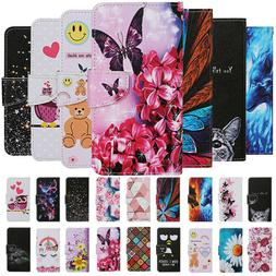 For Samsung A21S A31 A41 A51 A71 4G Painted Leather Wallet F