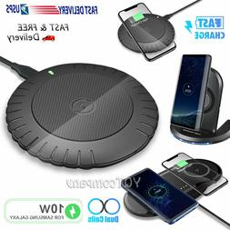 For Samsung S20 S10 S9 S8 Note 20 Note10 9 8 Wireless Fast C