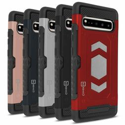 CoverON Samsung Galaxy S10 5G Case with Card Holder Magnetic