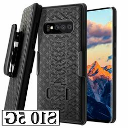 For Samsung Galaxy S10 5G - HARD HOLSTER KICKSTAND CASE COVE