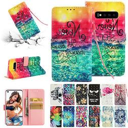 For Samsung Galaxy S10 5G Magnet 3D Pattern Leather Card Poc