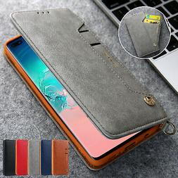 For Samsung Galaxy S10 5G Magnetic Leather Card Pocket Flip