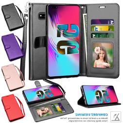 For Samsung Galaxy S10 5G Shockproof Flip Stand Strap Card W
