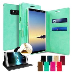 For Samsung Galaxy S10 Note 9 8 5 Flip Folio Kickstand Leath