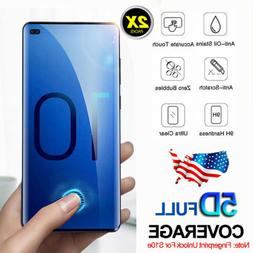 For Samsung Galaxy S10+ S10e Screen Protector 5D Full Covera