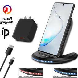 For Samsung Galaxy Note 20 Ultra iPhone Qi Wireless Fast Cha