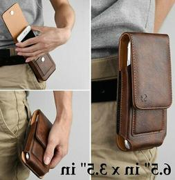 For Samsung Galaxy S20+ 5G - Brown Leather Vertical Holster
