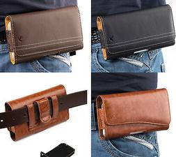 Samsung Galaxy S20+ 5G - Leather Belt Clip Pouch Holster Pho