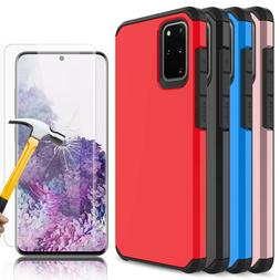 For Samsung Galaxy S20 Ultra Plus 5G Case Cover+Tempered Gla