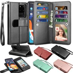 For Samsung Galaxy S20 Ultra / S20 Plus 5G Leather Wallet Ca
