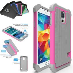 For Samsung Galaxy S3 S5  Armor Slim Shockproof Hybrid Rugge